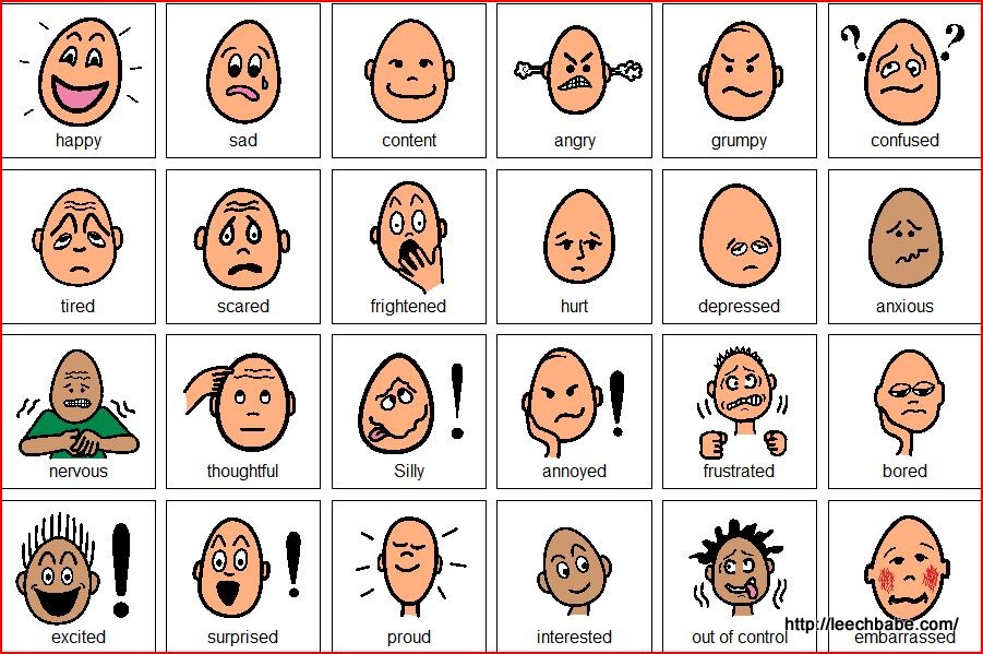 Printable version of these resources pictures to discuss emotions doc